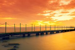 Sunset over the lake Balaton, Hungary Stock Photography
