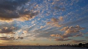 Sunset over the lake at Brighton Beach in Melbourne, Australia. stock images