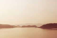 Sunset over Lake Stock Image