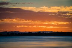 Sunset over Lake Colac in Victoria, Australia Royalty Free Stock Photos