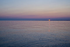 Sunset over lake Erie Royalty Free Stock Photography