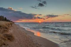 Sunset Over Lake Huron Stock Photo