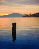 Sunset over Lake Iseo Stock Photos