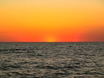 Sunset over Lake Michigan Stock Image