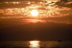 Sunset over Lake Michigan Stock Photo