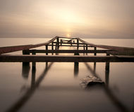Sunset over a lake. Miedwie lake,Poland Stock Photo