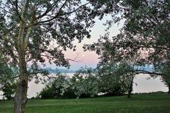 Sunset over Lake Neuchatel, Switzerland Royalty Free Stock Photo