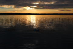 Sunset over the lake Royalty Free Stock Images