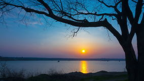 Sunset over the Lake. stock video footage