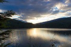 Sunset over lake Royalty Free Stock Image