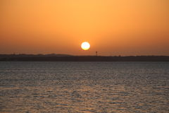 Sunset over Lake Texoma Royalty Free Stock Photos