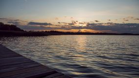 Sunset over the lake timelapse.  stock footage