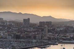 Sunset over Las Palmas de Gran Canaria Royalty Free Stock Photos
