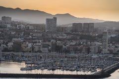 Sunset over Las Palmas de Gran Canaria Stock Photos
