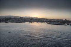 Sunset over Las Palmas de Gran Canraia Stock Photos