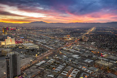 Sunset over Las Vegas stock image