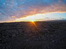 Sunset Over Lava Fiels Royalty Free Stock Images