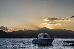 Sunset over Lefkada Island Stock Photography