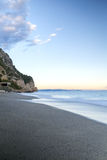Sunset over the Ligurian Sea. Color image Royalty Free Stock Image