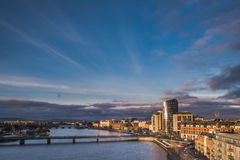Sunset over Limerick city Stock Photos