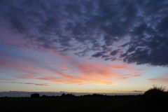 Sunset. Over the Lincolnshire fens Stock Photography