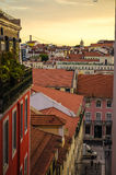 Sunset over Lisbon. Beautiful sunset in Lisbon, Portugal stock photography