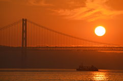 Sunset over Lisbon Stock Photos