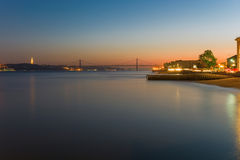 Sunset over Lisbon Stock Photo