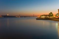 Sunset over Lisbon Stock Photo