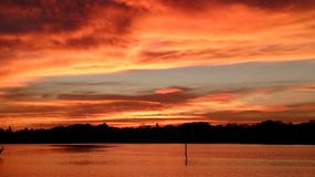 Sunset over Little Bayou St Petersburg Florida Stock Images