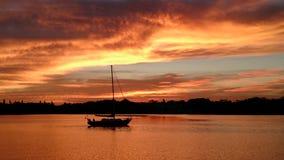 Sunset over Little Bayou St Petersburg Florida Stock Photo