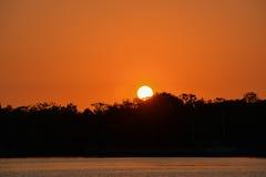 Sunset over Little Bayou on Tampa Bay, Saint Petersburg, Florida Stock Photos