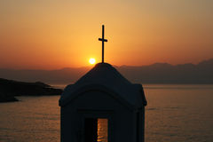 Sunset over the little chappel Stock Image