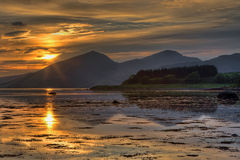 Sunset over Loch Linnhe Royalty Free Stock Photos