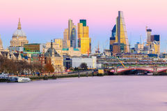 Sunset Over The London Cityscape Stock Photography