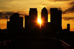 Sunset over London downtown royalty free stock photography