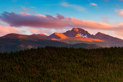 A Sunset Over Longs Royalty Free Stock Images