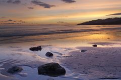 Sunset over Lyme Regis Royalty Free Stock Photos