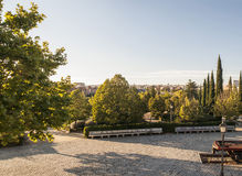 Sunset over Madrid Stock Photography