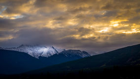 Sunset over Majestic Mountain Stock Images