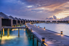 Sunset over the Maldives Stock Image
