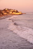 Sunset over malibu. A warm sunset over Yerba Buena beach stock image