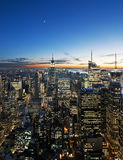 Sunset over manhattan Stock Photography