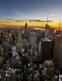 Sunset over Manhattan Royalty Free Stock Photos