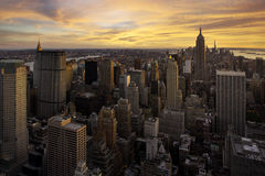 Sunset over Manhattan, New York. Colorful sunset over Manhattan, New York City, USA Stock Photos