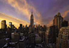 Sunset over Manhattan, New York Royalty Free Stock Photos