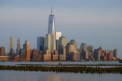 Sunset over Manhattan. Sunset over Manhattan - view from water Royalty Free Stock Images