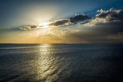 Sunset over Manila Bay, seen from Pasay, Metro Manila, The Phili Royalty Free Stock Photos