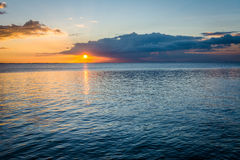 Sunset over Manila Bay, seen from Pasay, Metro Manila, The Phili Stock Photo