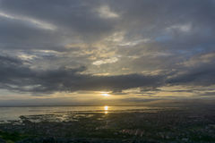 Sunset over Manila. From a mountain in Angono Philippines Stock Photos